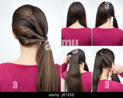 Einfache Verdrehte Frisur Tutorial Schritt Für Schritt Einfache