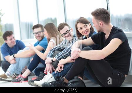 Lustige junge Menschen Lächeln und Spaß - Stockfoto