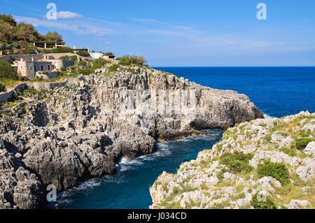 Ciolo Brücke. Santa Maria di Leuca. Puglia. Italien. - Stockfoto