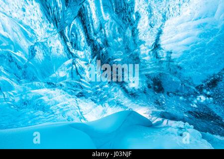 VATNAJÖKULL-Nationalpark, Island: Ein ICE SELFIE aus dem Herzen eines Gletschers Höhle könnte die spektakuläre siehst - Stockfoto
