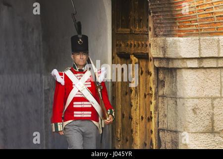 Gibraltar militärische Reenactment - Stockfoto