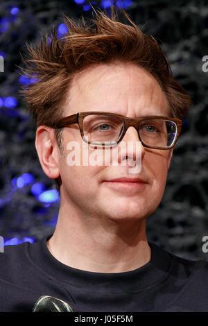 Tokio, Japan. 11. April 2017. Regisseur James Gunn besucht eine Pressekonferenz für ihren Film Wächter der Galaxie - Stockfoto