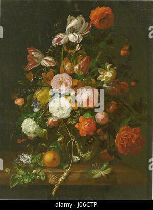 Ruysch, Rachel - Blumenstrauğ - 1708 - Stockfoto