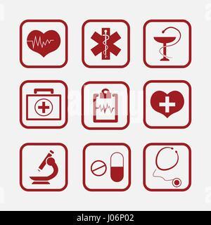 Medizinischen Symbol Symbole. Editierbare Vektorbild. - Stockfoto