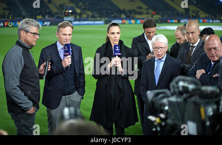 11.04.2017, Fussball-Champions-League-2016/2017, Quarters, Borussia Dortmund - AS Monaco, Im Signal-Iduna-Park Dortmund. - Stockfoto