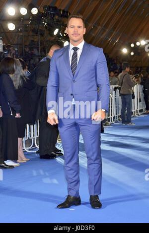 """Tokio, Japan. 10. April 2017. Schauspieler Chris Pratt besucht die Galaxy-Carpet-Event """"Hüter der Galaxie Vol. 2"""" - Stockfoto"""