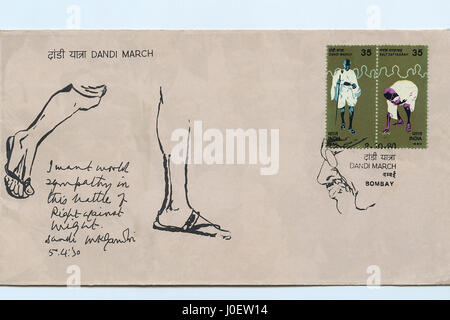 Dandi März Brief, Briefmarke, Indien, Asien - Stockfoto