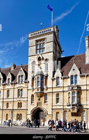 Am Balliol College, Broad Street, Oxford, England, Vereinigtes Königreich. - Stockfoto