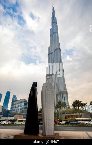 Der Burj Khalifa in Dubai, Vereinigte Arabische Emirate. - Stockfoto
