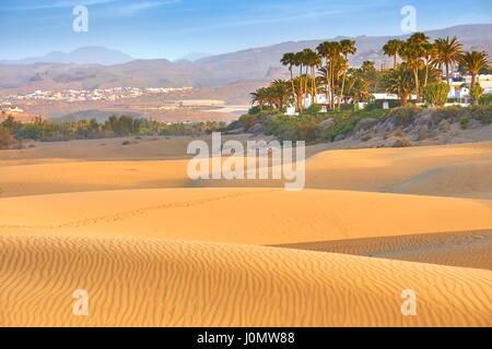 Sand-Dünen von Maspalomas, Gran Canaria, Spanien - Stockfoto