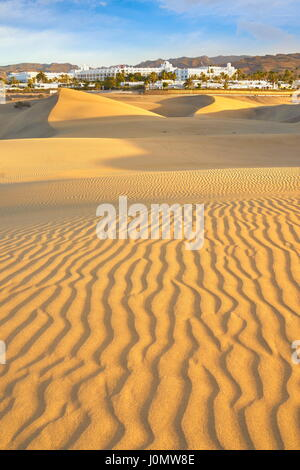 Dünen von Maspalomas Nationalpark, Kanarische Inseln, Gran Canaria, Spanien - Stockfoto