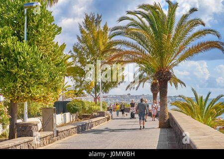 Playa de Ingles Promenade, Gran Canaria, Spanien - Stockfoto