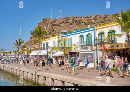 Kanarische Inseln, Gran Canaria, Puerto de Mogan, Spanien - Stockfoto