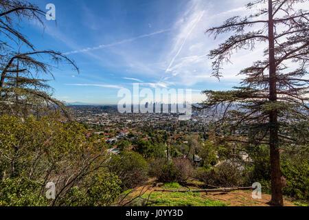 Die Innenstadt von Los Angeles Skyline-Blick - Los Angeles, Kalifornien, USA - Stockfoto