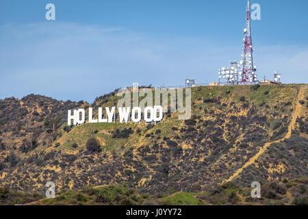 Hollywood-Schild - Los Angeles, Kalifornien, USA - Stockfoto