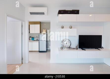Wohnzimmer, komfortabel gewölbte wohnen, Decke, Holz, Verglasungen ...