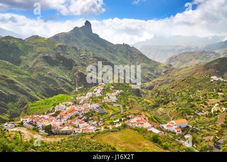 Luftaufnahme von Tejeda, Gran Canaria, Spanien - Stockfoto