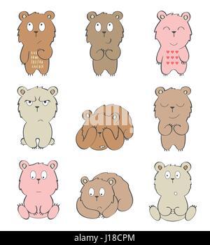 Vector Cartoon Bären - Stockfoto