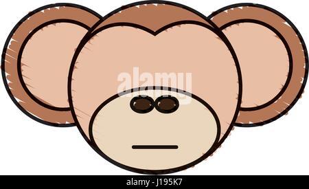Lächelnde Vektor-Logo. Abbildung des Tieres. Chinesisch tragen mit ...