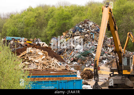 Schrott-Metall-Yard - Stockfoto