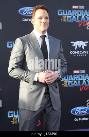 """Los Angeles, Kalifornien, USA. 19. April 2017. Chris Pratt. Premiere von Disney und Marvels """"Guardians Of The Galaxy - Stockfoto"""