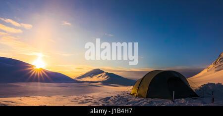 Camping im Sarek - Stockfoto
