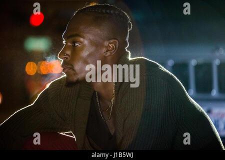 Porträt von nachdenklich schwarzer Mann - Stockfoto