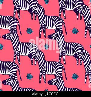 schwarz / weiß Zebra Vektor-illustration - Stockfoto