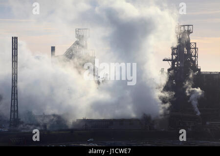 Port Talbot Steel Works, South Wales, Australia Stockfoto