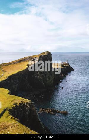 Landschaftlich Point Lighthouse Isle Of Skye Schottland - Stockfoto