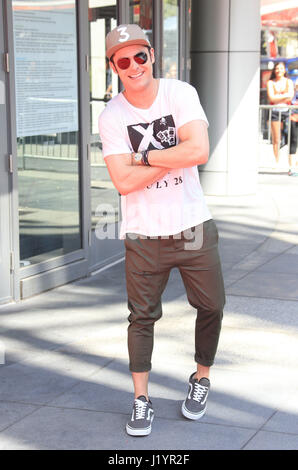 "Los Angeles, Ca, USA. 22. April 2017. Zac Efron, beim ""Baywatch"" SlowMo-Marathon am Microsoft-Platz In Kalifornien - Stockfoto"