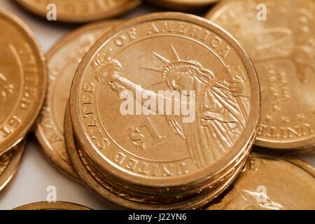 Presidential 1 Dollar Münze Us 1 Münzen Reverse Ansicht Usa