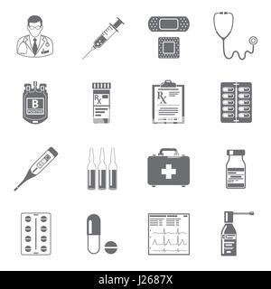 Set medizinische Symbole - Stockfoto