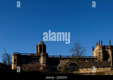 Tom Tower des Christ Church in Oxford, Oxfordshire, England, Vereinigtes Königreich - Stockfoto