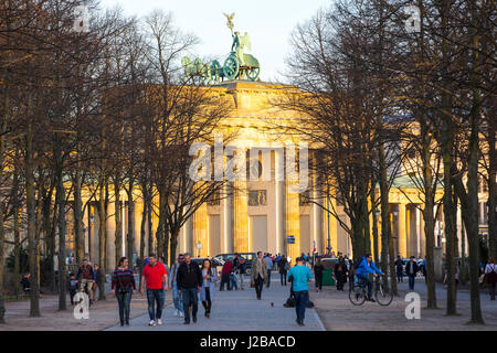Das Brandenburger Tor in Berlin, Deutschland, - Stockfoto