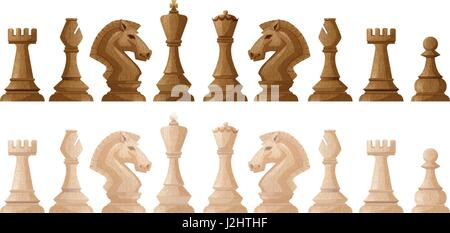 Zwei Farben der Schach Stücke illustration - Stockfoto