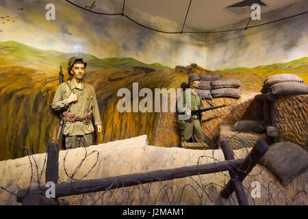 Vietnam, Dien Bien Phu, Dien Bien Phu Museum, französischer Soldat diorama - Stockfoto