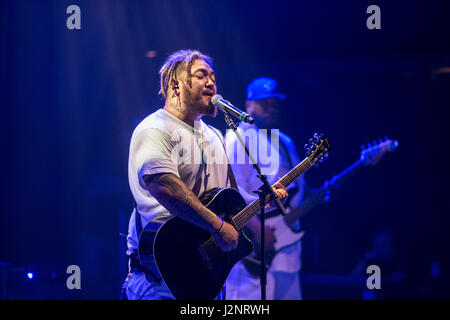 Las Vegas, NV, USA. 29. April 2017. Spawnbreezie Konzert in Brooklyn Bowl in Las Vegas, Nevada am 29. April 2017. - Stockfoto