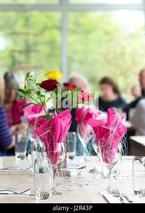 Restaurant Interior Tisch Tischdekoration Gestaltet Feier Feiern
