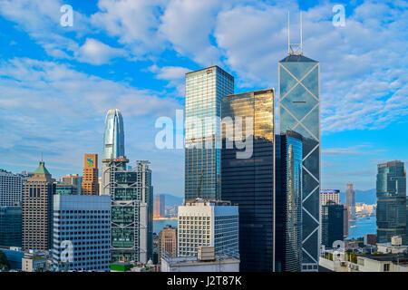 Zentrum von Hongkong Übersicht - Stockfoto