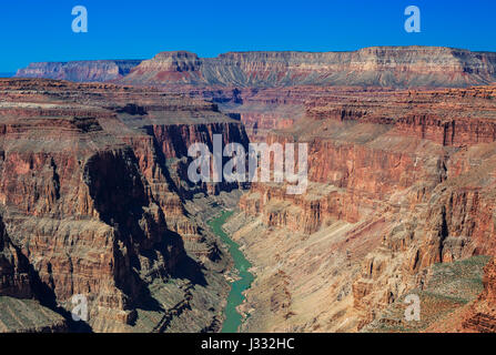 Colorado River im Bereich Fischschwanz Stromschnellen des Grand Canyon National Park, arizona - Stockfoto
