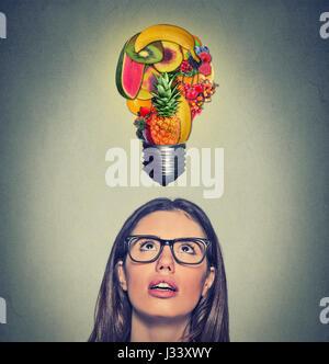 Essen Gesunde Idee Und Diat Tipps Konzept Closeup Portrait