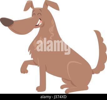 Cartoon, Illustration von niedlichen Hund Tier Charakter seiner Pfötchen geben - Stockfoto