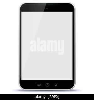 Schwarz Tablet Computer Vector Illustration - Stockfoto