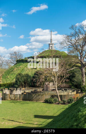 Dane John Gardens Park des Hügels und Kinder Labyrinth Canterbury Kent England - Stockfoto