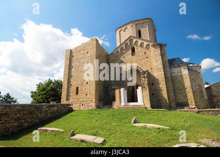 Serbische orthodoxe Kloster Djurdjevi Stupovi oder St. George Monastery nahe Novi Pazar, Serbien Bult in 1166 von - Stockfoto