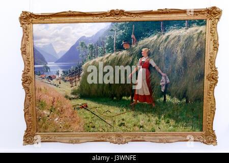 Sommer Episode, Hans Dahl, Öl auf Leinwand, Museum der schönen Künste, sa abad Museum Complex, Teheran, Iran - Stockfoto