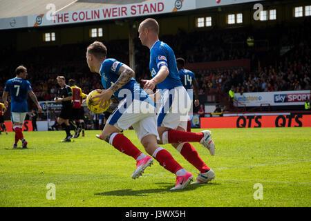 Glasgow, Schottland, Vereinigtes Königreich. 7. Mai 2017. Partick Thistle V Glasgow Rangers SPFL Sonntag, 7. Mai - Stockfoto