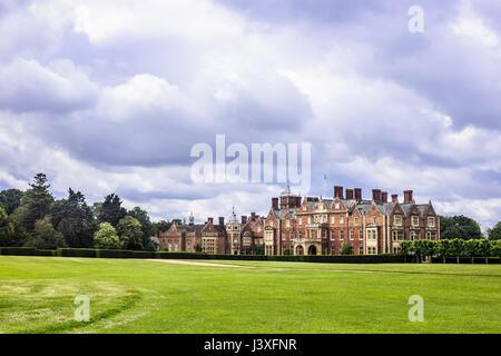 Sandringham House, der Residenz der Queen Land in Norfolk UK