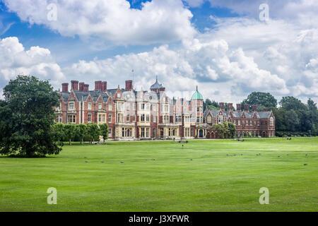 Sandringham House, der Residenz der Queen Land in Norfolk, Großbritannien